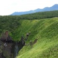 フレぺの滝。別名アイヌ語で「乙女の涙」